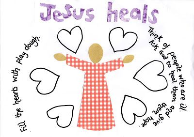 Flame: Creative Children's Ministry: Jesus the Healer Play Dough Mat