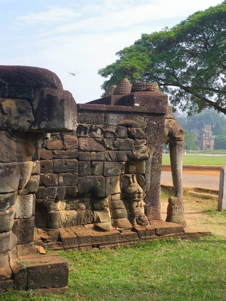 Terraza de los Elefantes, Camboya