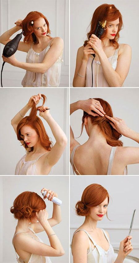17 Quick And Easy DIY Hairstyle Tutorials - love this look for wedding hair