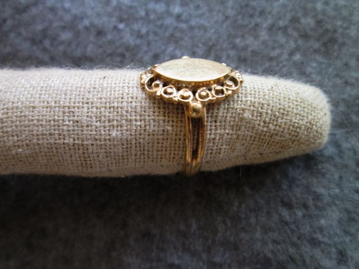Vintage fine 14K solid yellow gold ladies Marquise Filigree signet RING old    eBay