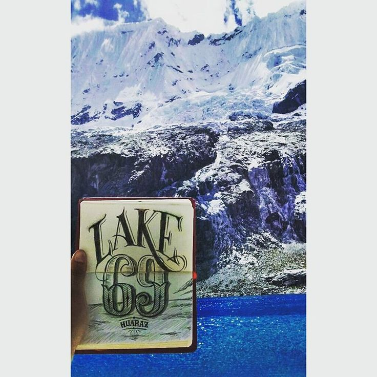 Sketch in the most amazing lake that I've already been!! Lake 69, Perú