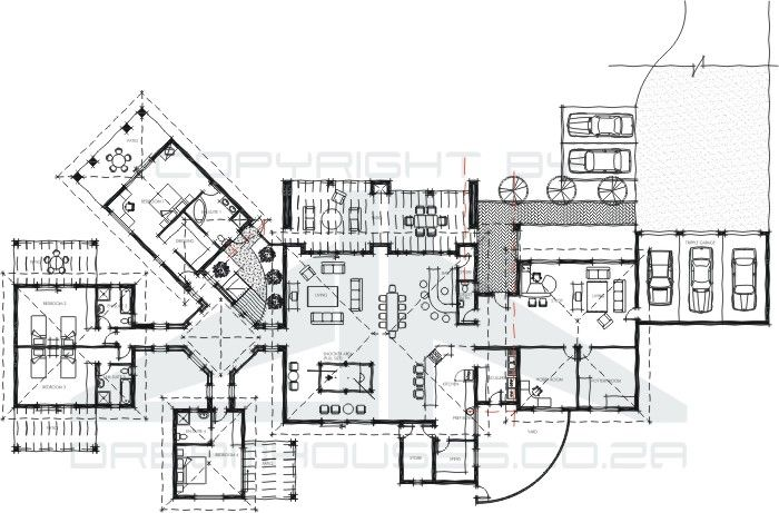 guest house layout plan - house interior