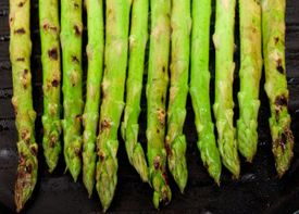 Easy to make Grilled Asparagus on your Foreman Grill. Perfect compliment for your steak dinner.