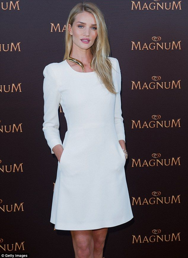 Rosie Huntington-Whiteley looked stunning at a press conference and screening for the new Magnum short film in Berlin.