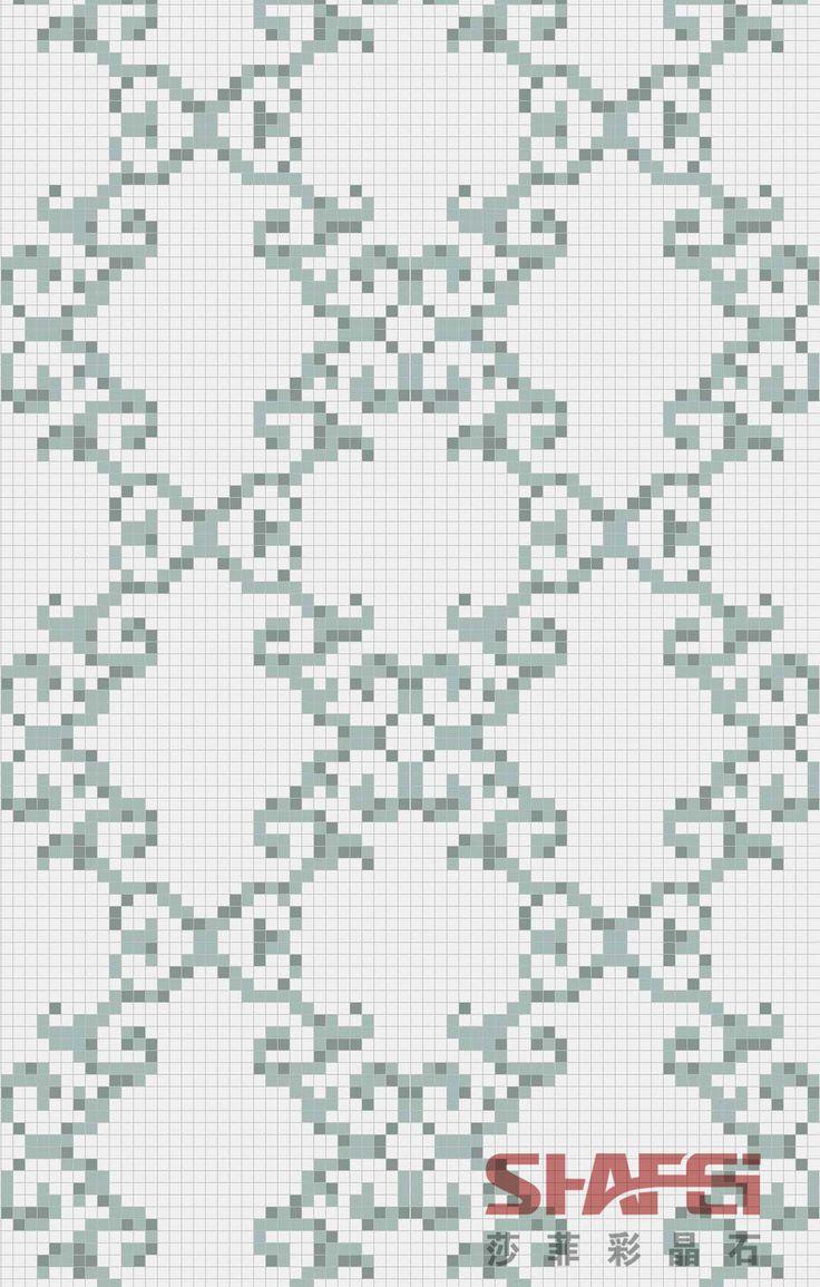 Art Crystal Glass Mosaic Mural PT-007(Size: 1200X1800MM)
