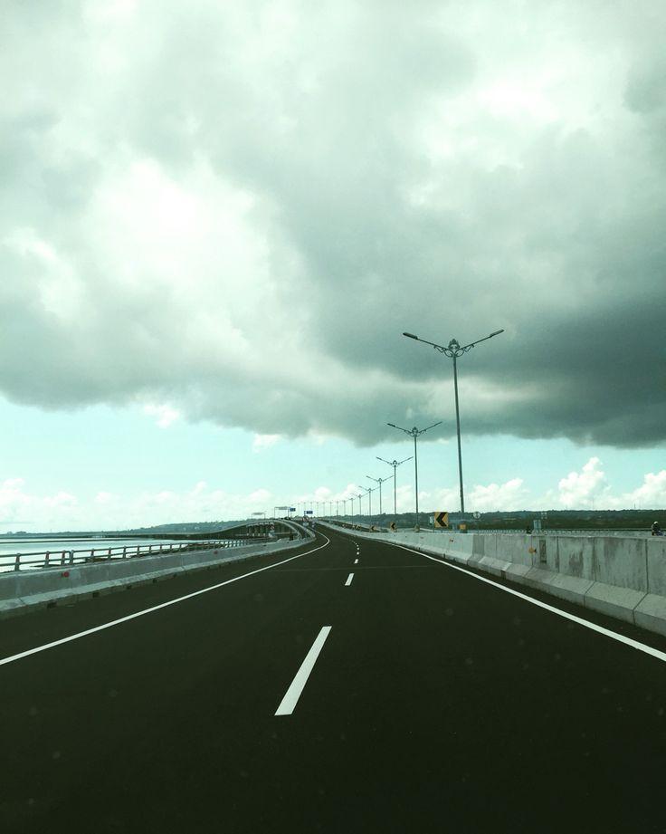 Gloomy highway #Bali #indonesia