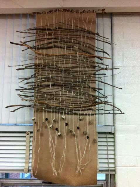 Weaving with sticks