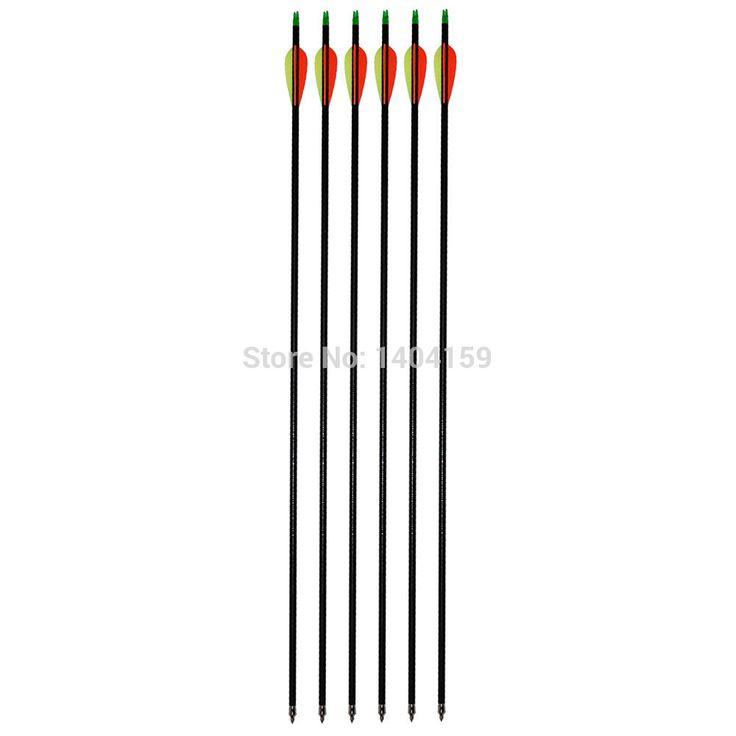 archery hunting arrows with 78cm length compound bow arrows 24 pieces fiberglass arrow(China (Mainland))