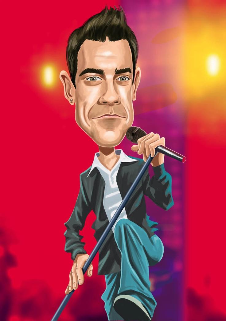 Robbie Williams Caricaturas de Musicos/Cantantes - Taringa!