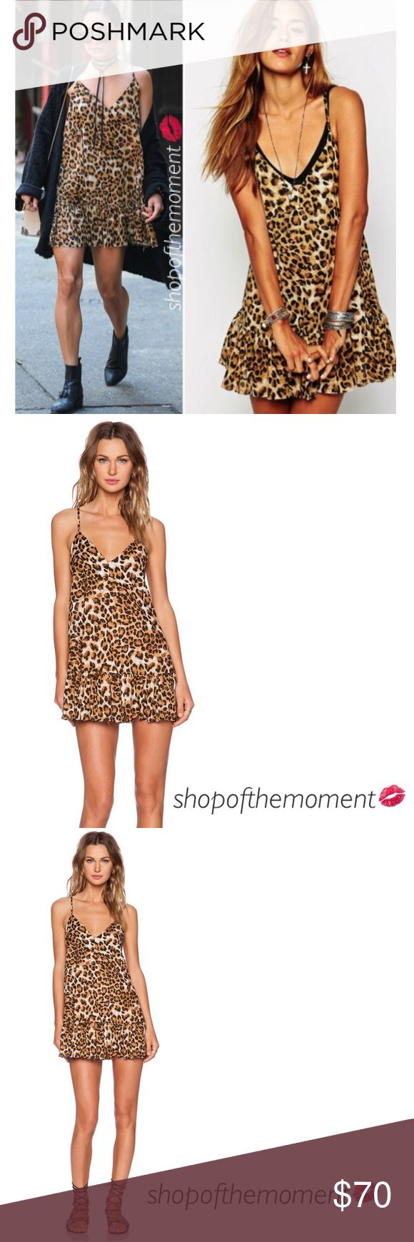 """💫🆕 Vanessa's One Teaspoon Leopard Dress One Teaspoon  Leopard Dress  💫💫💫💫💫💫💫💫💫💫💫💫  🔥 as seen on Vanessa Hudgens 🔥            🔥 as seen on asos 🔥  This stunning celebrity style dress features a drop waist for a relaxed, flowy fit. Fully adjustable shoulder straps. Soft ruffle through the skirt. Velvety details throughout. Perfectly fun and bare for festival season.   Approximate Measurements: Length: 33"""" from shoulder  💫💫💫💫💫💫💫💫💫💫💫💫  ✗ Drama ✗ Trades ⚡️Fast…"""