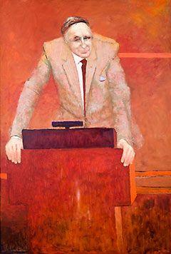 Clifton Pugh ~ Portrait of Sir Weary Dunlop, 1990