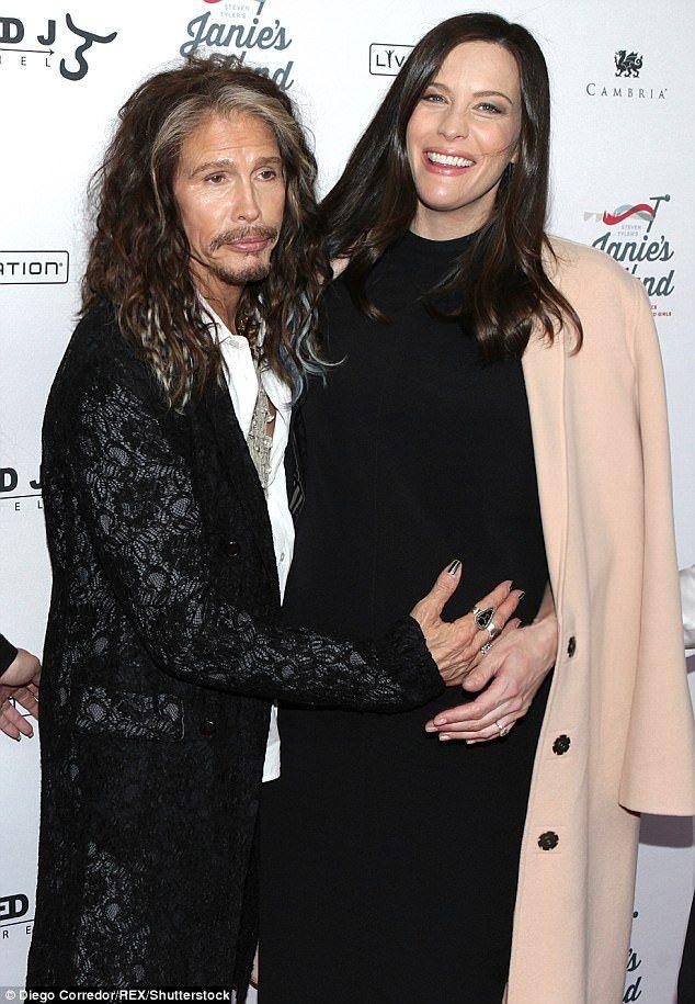 Daddy's girl: Liv is the daughter of Aerosmith rocker Steven Tyler, 69, who took to social...