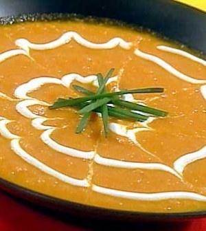 Mrkvová polévka s kari  (Carrot Soup with Curry)