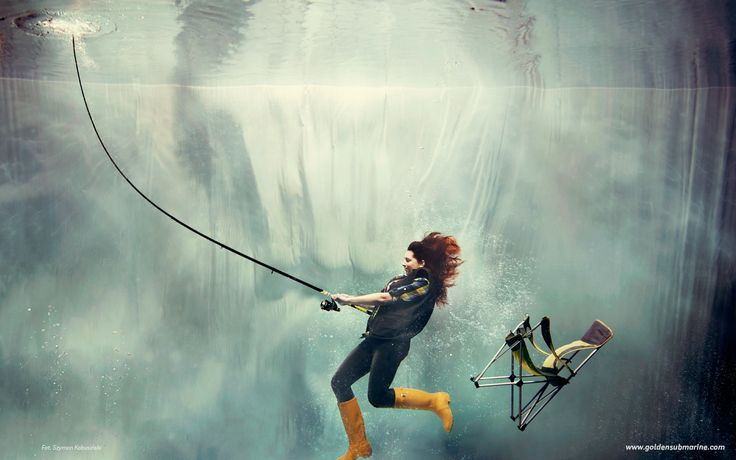 underwater, fish catching
