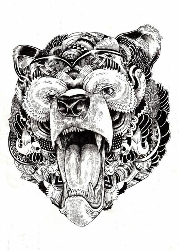 Group Of Zum Ausmalen Tier Tattoo