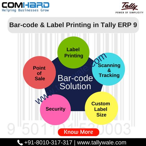 Tally.ERP9 Barcode & label printing Solution:-Generate and Print Professional Barcode Labels from tally