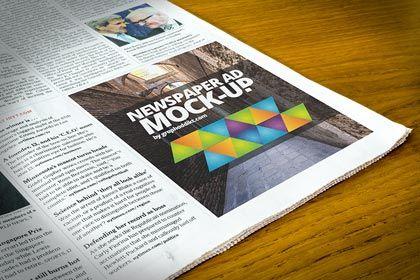 Newspaper Advert PSD Mock-Up