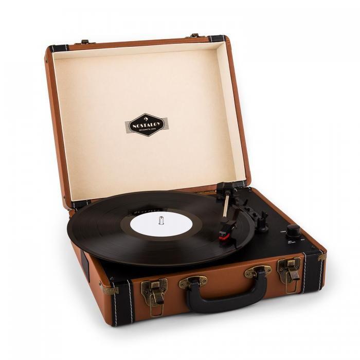 Jerry Lee Platine vinyle look retro avec port USB numérisation -marron