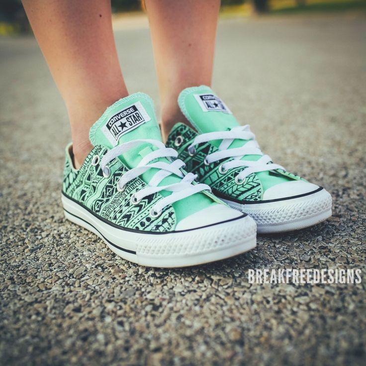 Tribal Converse -Made to Order by BreakFreeDesigns on Etsy https://www.etsy.com/listing/198752344/tribal-converse-made-to-order
