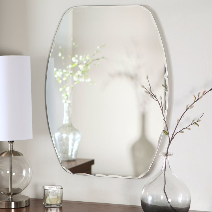 Have to have it. Frameless Freddie Wall Mirror - 23.5W x 32.5H in. - $94.43 @hayneedle