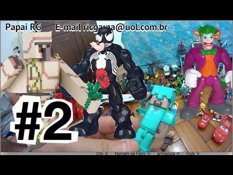 #2  Minecraft Golem de Ferro Steve  X Coringa Venom  Cadeia Gotham City ... #minecraft #steve #creeper #enderman  #game #jogo #play #ps4 #xbox #xboxone #toys #toys #おもちゃ  #dolls #doll #kids #kids  #puppet #lego #imaginext #marvel #DC #Comics #escola #school #educação #education #kid #kids #lol #usa