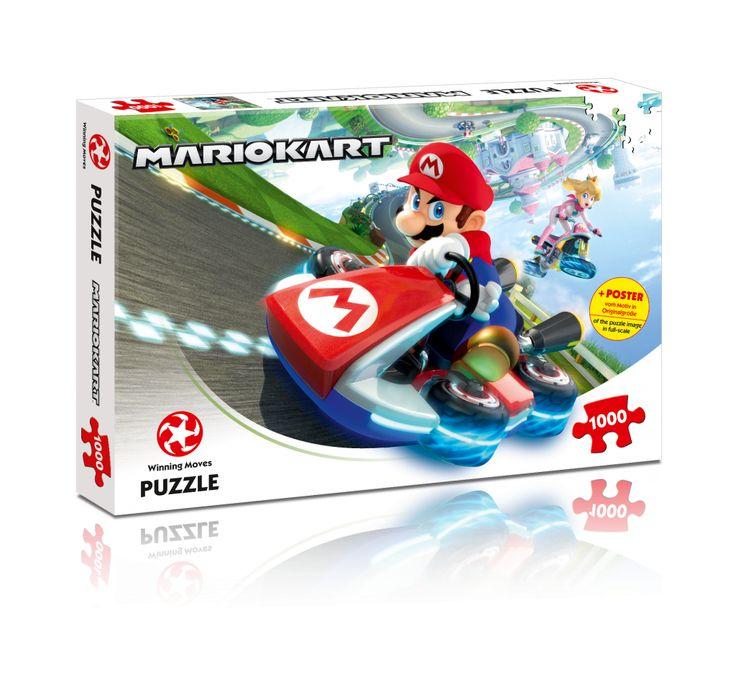 Puzzle Mario Kart – Funracer 1000 Teile. 3 – 2 –1… und LOS! Mit diesem wunderschönen 1000-teiligen Puzzle bist du mittendrin beim rasanten Rennen von Mario und Co – ein absolutes Highlight für alle Mario Kart-Fans! Bist du bereit für diese Herausforderung?