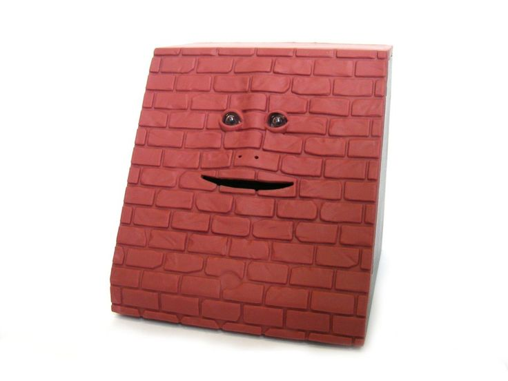 Face Bank Money Box - Brick Red