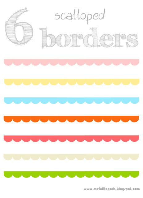 free digital scalloped scrapbooking border png's - Muschelränder - freebies | MeinLilaPark – digital freebies