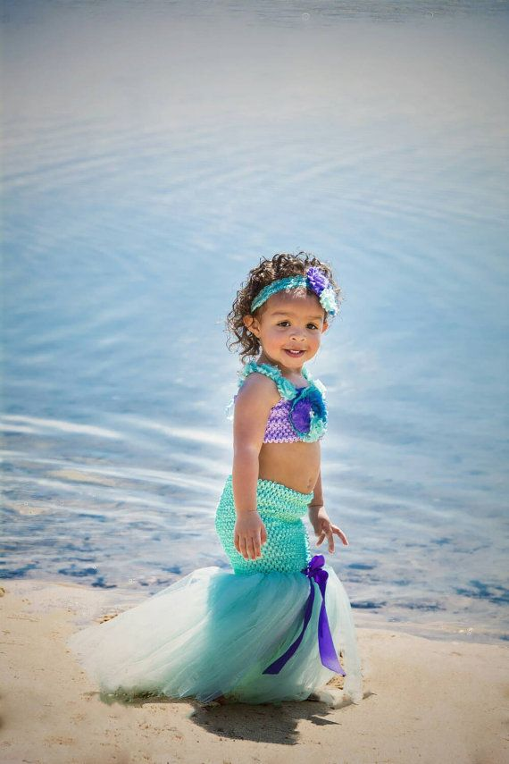Mermaid tutu dress. Ariel tutu dress. Beach tutu, beach photo prop tutu. First…