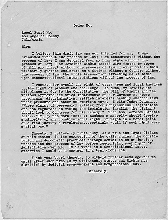 japanese internment letter Japanese internment letter - free download as pdf file (pdf), text file (txt) or read online for free.