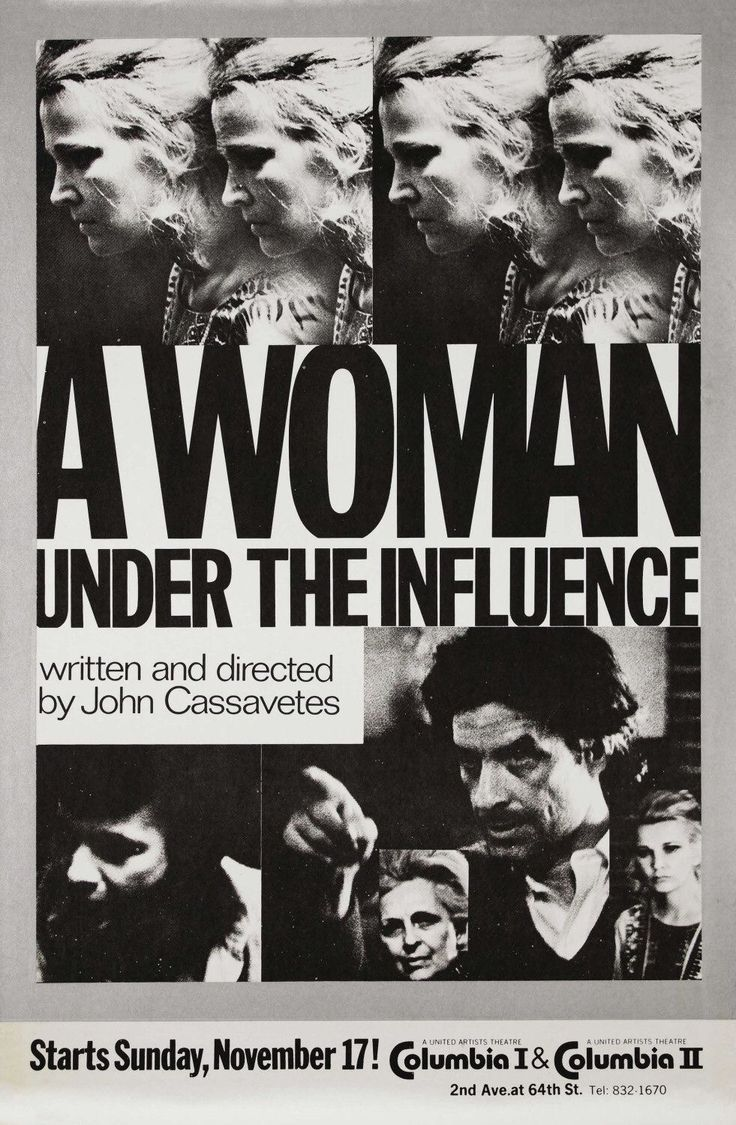 "Cassavetes' ""A Woman Under the Influence"" (1974).  The only Cassavetes I truly admire.  Highly intense film."