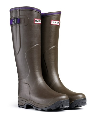 Hunter Lady Balmoral Neoprene Wellies (Chocolate) *Official UK Stockist*