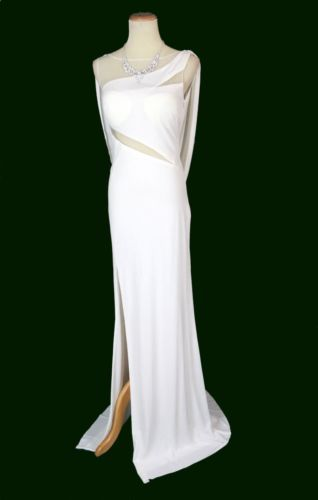 New-Genuine-Jovani-91305-White-Evening-Bridal-Wedding-Dress-Pageant-Women-Gown-4