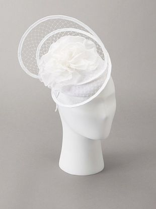 70% OFF Giovannio Women's Floral Cage Veil Fascinator Headband, White