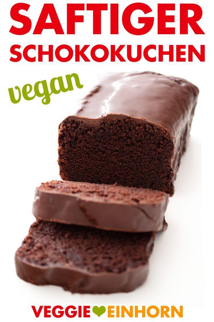 Saftiger veganer Schokoladenkuchen. Einfacher Kuchen ohne Ei, Butter und Milch. Vegan …   – Vegane Kuchen und Torten Rezepte