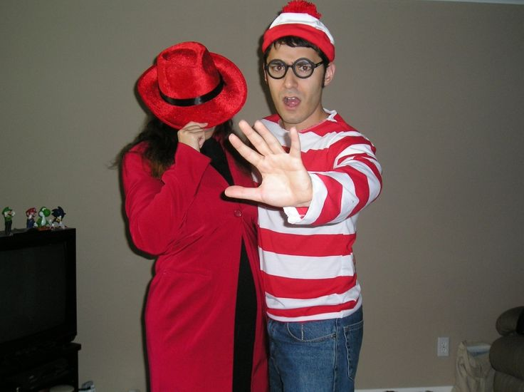 Our Halloween Costumes - Carmen Sandiego and Where's Waldo: Halloween Costumes Ideas, Carmen Sandiego, Funny Halloween Costumes, Carmen Dell'Orefic, Halloween 2009, Couple Costumes, Couple Halloween Costumes, Hey Babes, Awesome Halloween Costumes