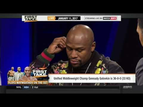 ESPN FIRST TAKE TODAY (1/11/2017) FLOYD MAYWEATHER CHALLENGES CONOR MCGREGOR TO FIGHT LIVE,