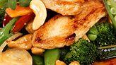 Kylling- og grønnsakswok