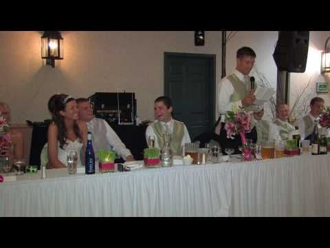 Funny Wedding Toast By Jeremy Brother Of The Bride At Amanda And Jims