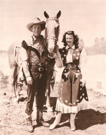 "Happy Trails to you ... until we meet again.. ""the King of the Cowboys and The Queen of the West"""