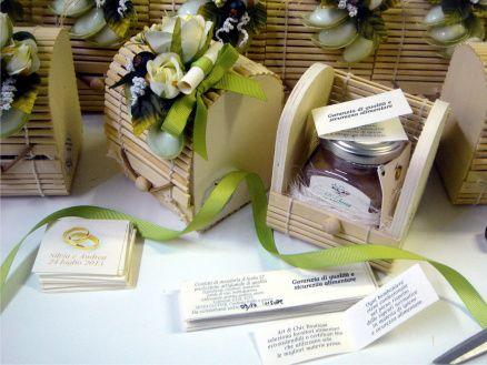 Bomboniere gastronomiche marmellate in scatola di bamboo