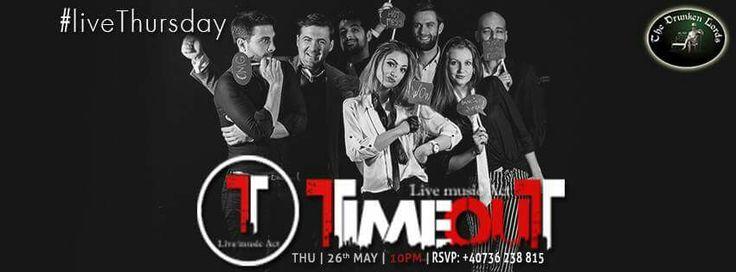 Joi, 26 Mai, 22:00,Trupa TIME OUT concertează la The Drunken Lords! Trupa de Cover-uri este formată din 7 muzicieni talentați, plini de energie care vă vor suprinde cu un show aparte. Intrarea este liberă!  Rezervări: +40736 238 815