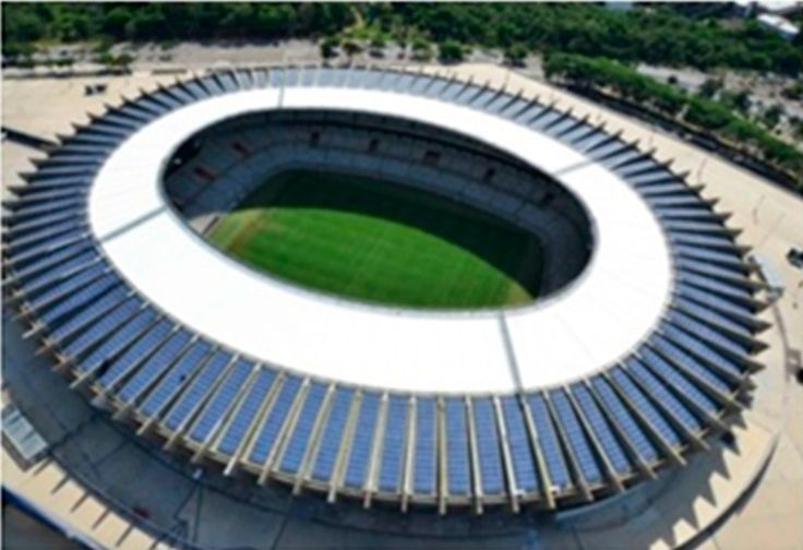 One-Year Monitoring #SolarPower Plant Installed on Rooftop of Mineirão Fifa World Cup/Olympics Football Stadium #SolarRooftop