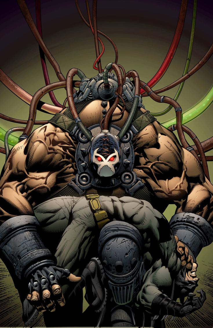 Batman vs. Bane | By: David Finch, via Abduzeedo