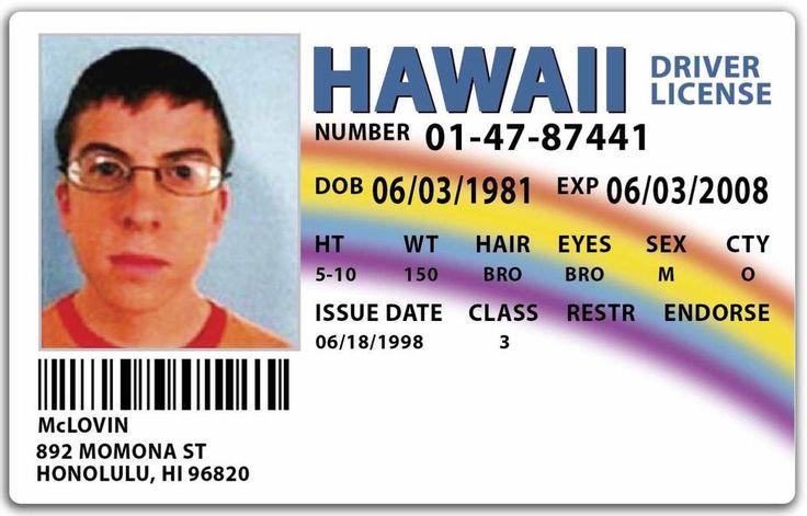 McLovin Superbad Movie Joke Fake ID **FREE SHIPPING**   eBay