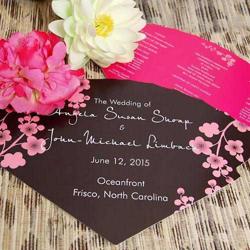 Wedding Ceremony Hand FansCherries Blossoms, Wedding Ceremonies, Outdoor Wedding, Wedding Favors, Wedding Fans, Wedding Programs, Hands Fans, Programs Fans, Fans Programs