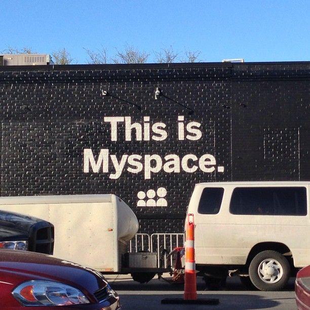 Is it really? #myspace #sxsw #streetart
