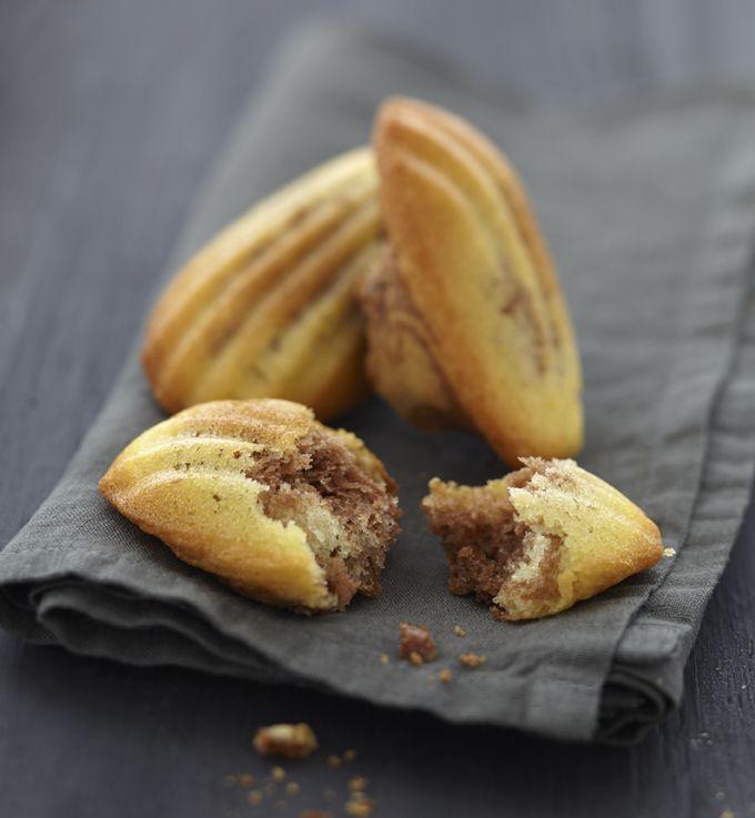 Madeleines au nutella - Recettes de cuisine Ôdélices
