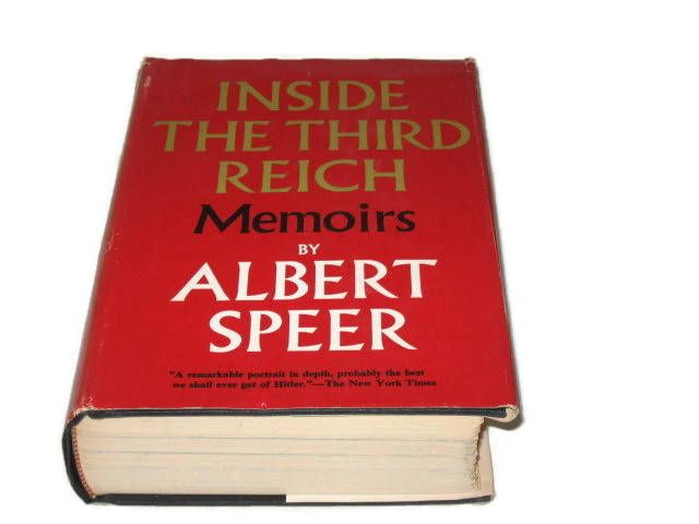Albert Speer Book, Inside The Third Reich, Memoirs Of Hitler, Nonfiction Book, Adolf Hitler, Collectible Book, Hardcover Book, Macmillan by VintageCastaways on Etsy