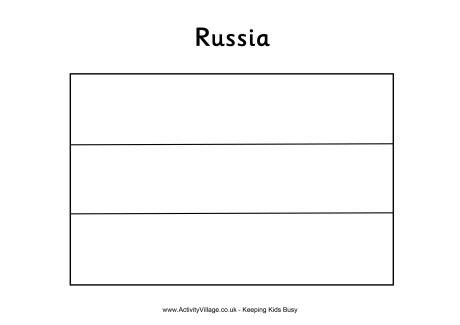Russian Flag Coloring Page: Winter Olympics Crafts for Kids. #StayCurious